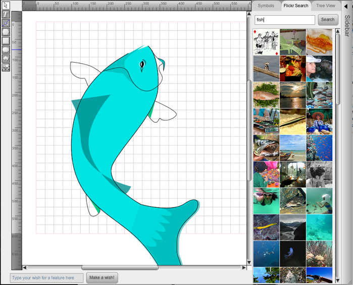 Leonardo sketch open source drawing tool which outputs to Open source drawing tool